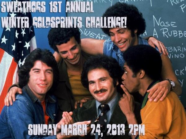 Sweathogs 1st Annual Winter Goldsprints Challenge!